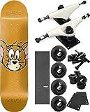Almost Skateboards Jerry Face Skateboard 7.75'' x 31.1'' Complete Skateboard - Bundle of 7 items