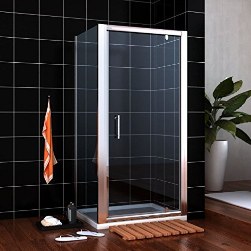 1000x760mm Pivot Shower Enclosure Glass Screen Door Cubicle with Side Panel NEXT WORKING DAY DELIVERY by sunny showers by sunny showers