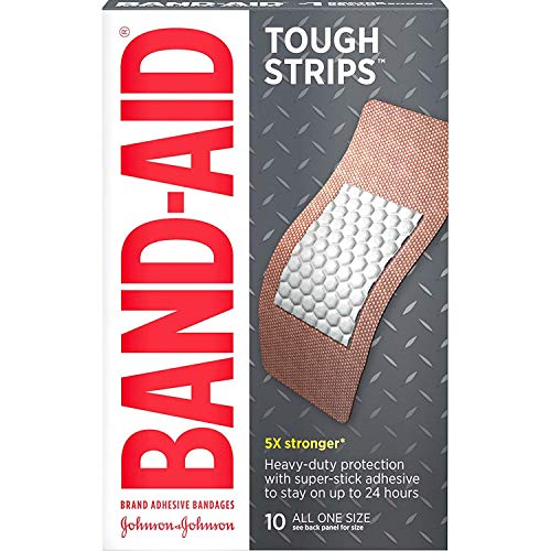 (BAND-AID Tough-Strips Bandages, Extra Large 10 ea (Pack of 3) )