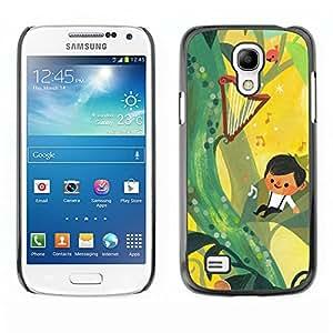 TopCaseStore / la caja del caucho duro de la cubierta de protección de la piel - Fairytale Yellow Music Boy Mother Mom - Samsung Galaxy S4 Mini i9190 MINI VERSION!