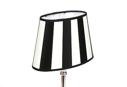 Moderne Lampen 82 : Design tischlampe tischleuchte gestreift hellbraun braun rot schwarz