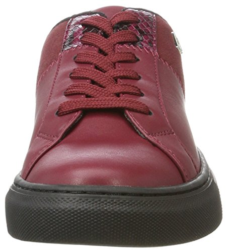 Emporio Rouge Femme Amarante Basses Bassa Sneaker Armani rxvqrAH