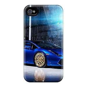 Defender Cases With Nice Appearance (blue Lamborghini Gallardo) For Iphone 6