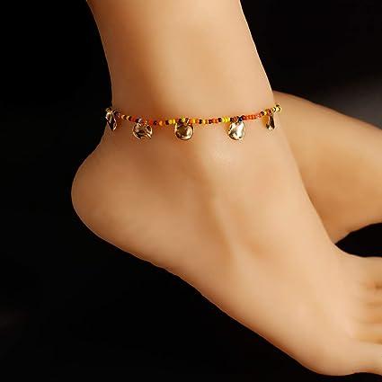 Summer New Ankle Bracelet  Adjustable  Anklet Foot Chain Beach Beads UK Seller