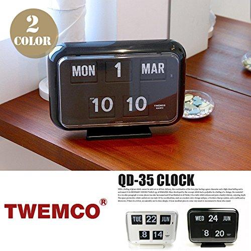 QD-35 CLOCK(クロック) パタパタクロック TWEMCO(トゥエンコ) ホワイト B00Q9QY44C ホワイト ホワイト