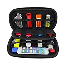 Storage Bag Hard Shell Case for USB Key USB Flash Drives/Power Banks/ Hard Disk/earphone/cable (Black)