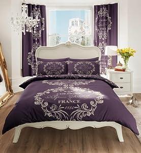 Script Paris Duvet Cover With Pillow Cases Quilt Cover Bedding Set ... : paris quilt covers - Adamdwight.com