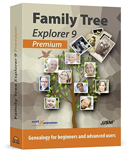 Family Tree Explorer 9 PREMIUM - Genealogy Pedigree Software for Windows 10,...