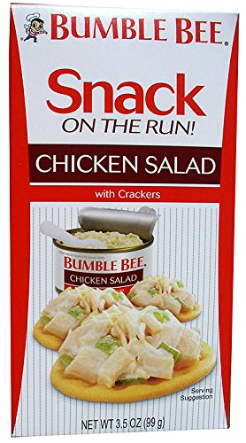 BUMBLE BEE Snack on the Run! Chicken Salad with Crackers (Pack of 12 / 3.5 oz kit) - Bumble Bee Chicken Salad