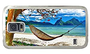 Hipster custom made Samsung Galaxy S5 Case Hammock Beach PC Transparent for Samsung S5