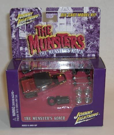 TWO 1//64 SCALE DIECAST MODEL CARS THE MUNSTERS DIECAST TOY CAR PACKAGE