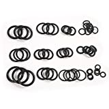 Universal Black Silicone Rubber 50Pcs O Ring Washer Seals Watertightness Assortment Car Metric O-Ring
