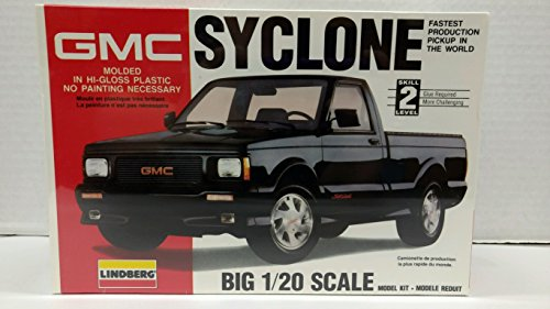 Lindberg 72504 1991 GMC Syclone Pickup Truck 1:20 Scale Plastic Model Kit - Requires Assembly