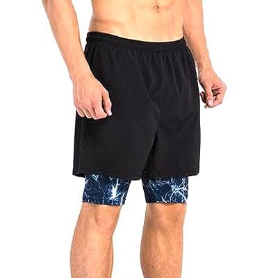 Highisa Mens High Rise Cotton Half Leisure Pinstripe Swim Short
