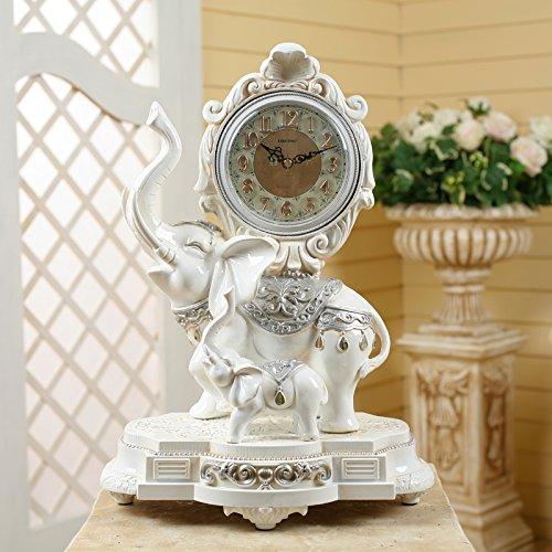 New complex Gu Licheng fashion creative decorating living room antique clock authentic European elephant clock decoration clock 46×33×23cm,SW