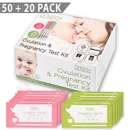 50 Ovulation Test Strips Predictor Kit - 20 Pregnancy Tests - First Response LH Ovulation Tracker Kits - OPK Fertility Tests - Ovulation Sticks For Women - Best Ovulation Testing Strip - 20 Urine Cups
