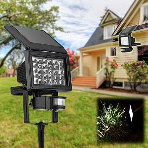 DaDago Energía Solar Super Brillante 30 Led Cuerpo Inducción Luz Jardín Montado En La Pared Spot Lightt: Amazon.es: Hogar