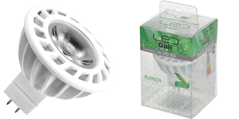 Guli 0MR00500613001 Bombilla dicroica LED 6 W, 12 V, 4000K 6W: Amazon.es: Bricolaje y herramientas