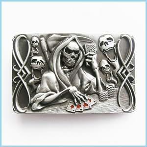 Brand:choi Casino Skull Play Poker Belt Buckle Cs-037