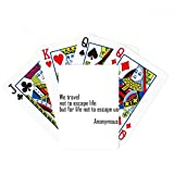 beatChong We Travel Not Escape Life Poker Playing Card Tabletop Board Game Gift