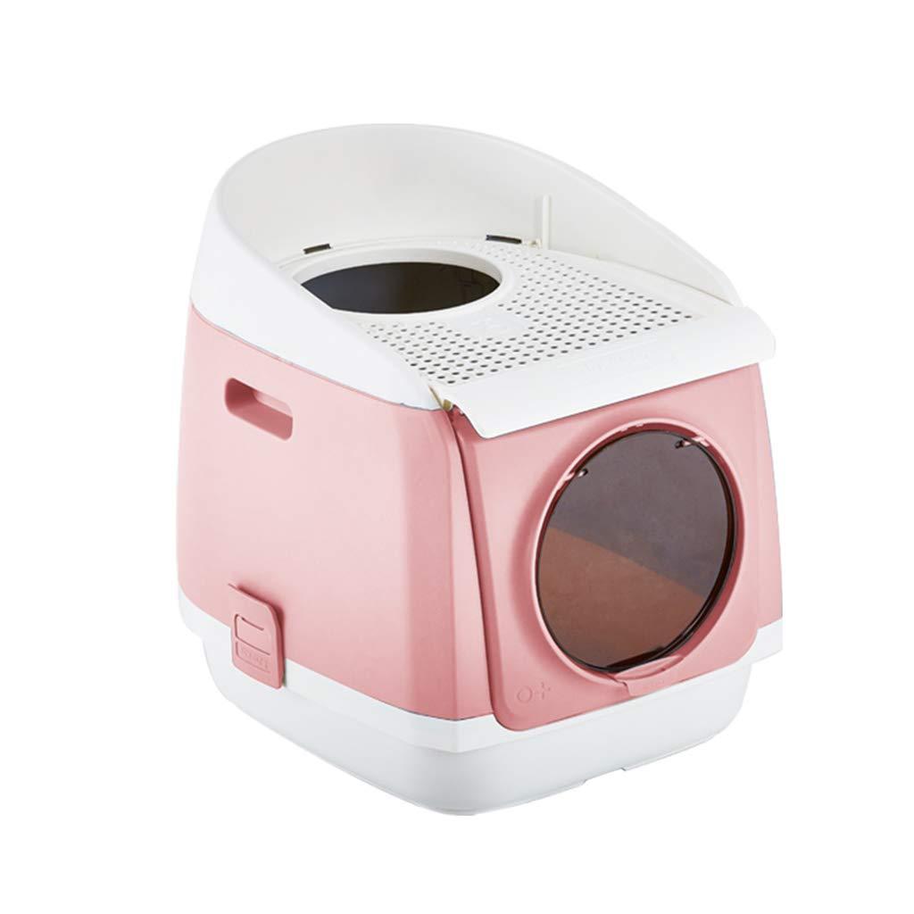Bandeja Gatos Encapuchado Caja Adjunto Lavabo Interior Bote Baño Cazuela Puerta Doble Anti-Salpicaduras Desodorante Suministros Mascotas (Tamaño : Metro): ...