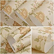 Wallpaper Wall Paper American Retro Pattern,Printing Patterned Non-Woven Bedroom Design TV Background Home Dec