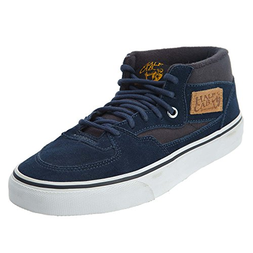 Vans Men's Half Cab Vn-0uc8 Shoe, Dress Blue/Graphite, Boys/Mens 6.5 Women 8