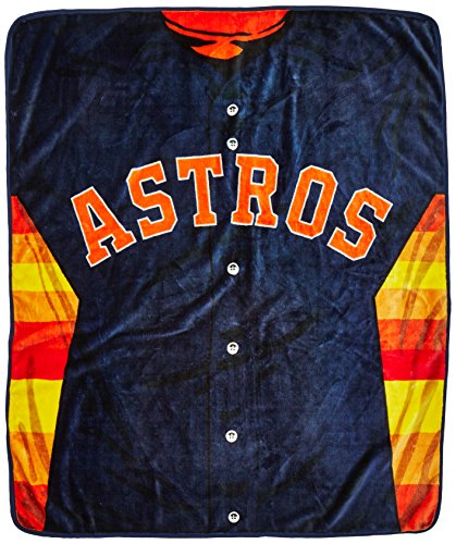 Houston Blanket - Northwest MLB Houston Astros Jersey Raschel Throw Blanket, 50