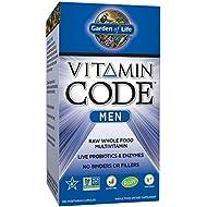 Garden of Life Multivitamin for Men - Vitamin Code Men's Raw Whole Food Vitamin Supplement with Probiotics, Vegetarian, 240 Capsules