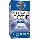 Garden of Life Multivitamin for Men – Vitamin Code Men's Raw Whole Food Vitamin Supplement with Probiotics, Vegetarian, 240 Capsules