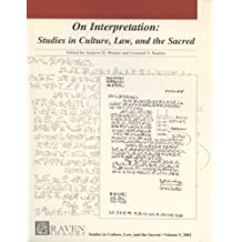 Graven Images - On Interpretation: Studies In Culture, Law, And The Sacred