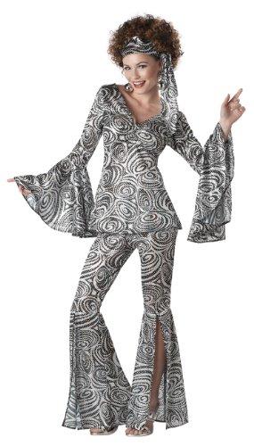 California Costumes Foxy Lady Set, Black/Silver, (Disco Clothing)