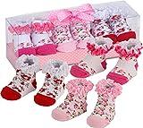 BRUBAKER 3 Pairs of Baby Socks Girls 0-12 Months