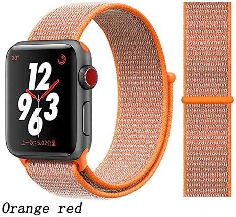 JWJY ユニバーサル・ウォッチバンド44ミリメートル40ミリメートル42ミリメートル38ミリメートルのナイロンブレスレット時計バンド44/42 (Band Color : Orange red, Band Width : 38mm or 40mm)