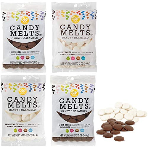 Wilton Light Cocoa and Bright White Candy Melts Candy Making Set, 4-Piece