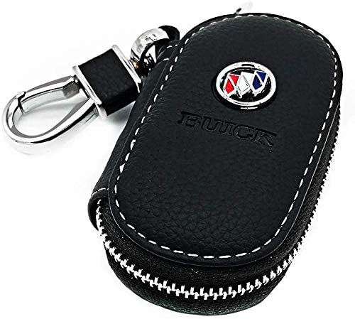 Car Key Holder,Genuine Leather Case with Stainless Steel Hook Remote Key Fob Case with Metal Zipper Keychain Color : for BMW