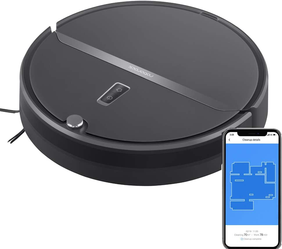 Roborock Robot Vacuum, Vacuum and Mop Robotic Vacuum Cleaner, Route Planning, 2000Pa Strong Suction, Ideal for Home with Pets