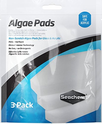 Glass Acrylic Aquariums - Seachem Laboratories Algae Pad (3 Pack), 25mm