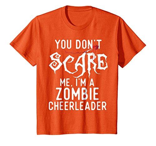 Kids Funny Zombie Cheerleader Shirts Halloween Costume Joke Gifts 8 Orange