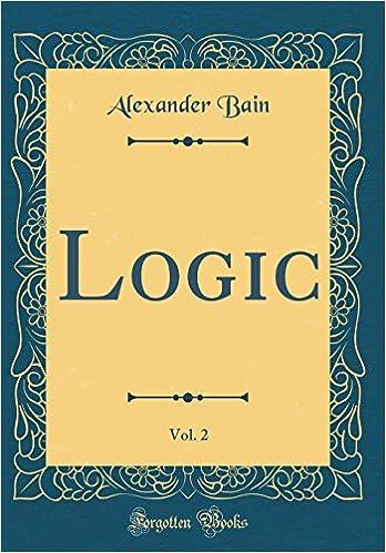 Logic Vol 2 Classic Reprint Alexander Bain 9780267510788