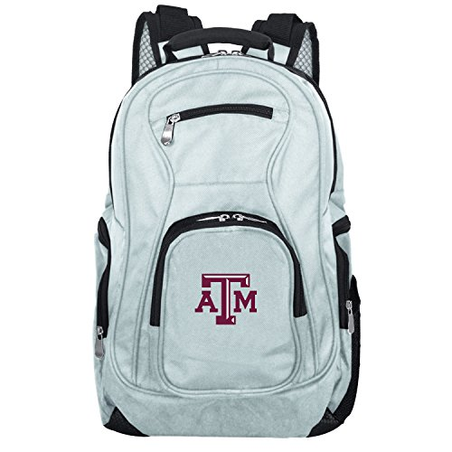 NCAA Texas A&M Aggies Voyager Laptop Backpack, 19-inches, Grey (Texas Backpack A&m)