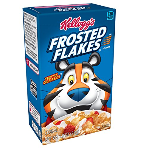 Kellogg's Breakfast Cereal, Frosted Flakes, Fat-Free, Single Serve, 1.2 oz Box(Pack of 70) (Frosted Box)