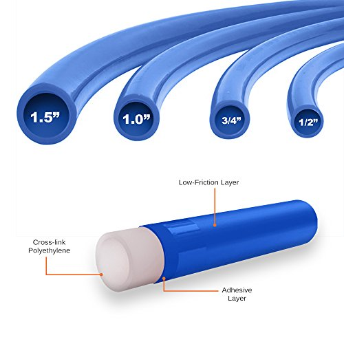 Pexflow PEX Potable Water Tubing - PFW-B34300 3/4 Inch X 300 Feet Tube Coil for Non-Barrier PEX-B Residential & Commercial Hot & Cold Water Plumbing Application (Blue) by PEXFLOW (Image #2)