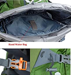 TOFINE Waterproof Camping Backpack Big Bags for Traveling with Rain Cover Red 40 Liter
