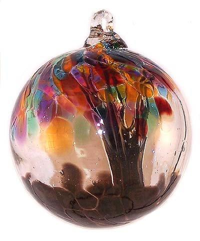 Witch Ball Spirit Tree ''Shangri-La'' (Mini) 2.5 Inch by Iron Art Glass Designs