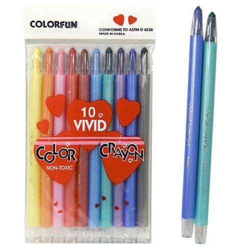 Twist Strip Crayon 10 Pack 192 pcs sku# 920318MA by DDI
