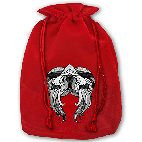 TPSXXY Ethnic Zodiac Horoscope Aquarius Large Christmas Drawstring Bag Santa Present Bag Basket Gifts Sack