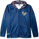 Zubaz NFL Houston Texans Male Full Zip Camo Space Dye Hoodie, X-Large, Navy