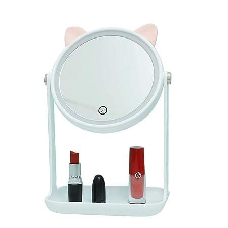 Cargador Led Espejo de maquillaje Escritorio femenino con ...