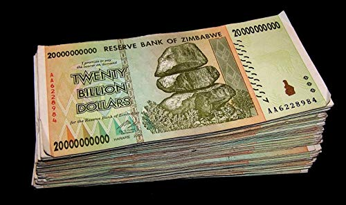 - 20 x Zimbabwe 20 Billion Dollar banknotes- paper money currency /Genuine Rare For collectors